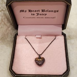 BNWT Juicy Couture Heart Necklace